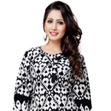Comfortable Black Coloured Cotton Printed Kurti
