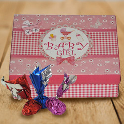 Extraordinary Baby Girl Homemade Chocolate Box with Taste of Love
