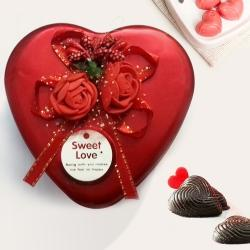 Love is Life Heart Shaped Chocolate Box