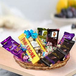 Delicate Assorted Chocolates Gifts Basket
