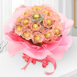 Delicious Ferrero Rocher Chocolates Bouquet