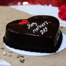 Delicious Chocolate Flavored Heart-shaped Cake of 2.2 Lb.