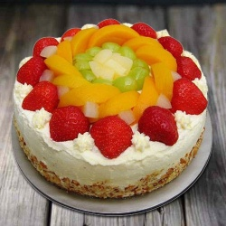 Flavor�s Fondle 1 Kg Egg-less Fresh Fruit Cake