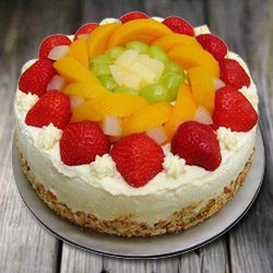 Exquisite 1 Kg Eggless Fresh Fruit Cake