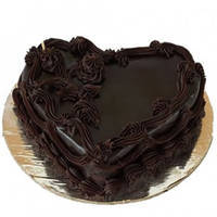 Delightful Heart-Shape Chocolate Cake