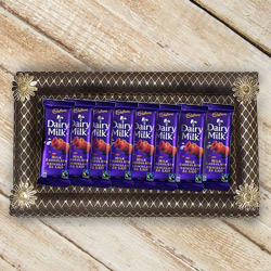 Velvety Collection of Eight Pieces Cadbury Dairy Milk Chocolates