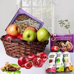 Marvelous Gift Basket of Fruits N More
