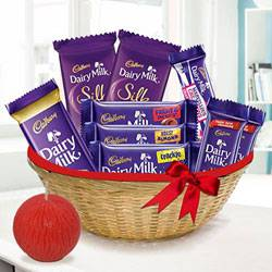 Assorted Chocolates and Tea Light Deepavali Hamper