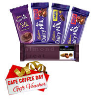 Delightful Combo of Cadbury Chocolate Assortment and CCD Gift Voucher