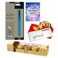 Magical Birthday Pack of Ferrero Rocher, Parker Pen, Gift Voucher & Card