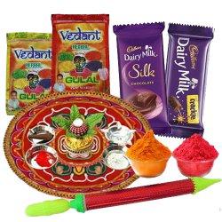 Sweet Holi Celebration with Dairy Milk Chocolates, Puja Thali, Pichkari N Herbal Gulal