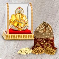 Classic Vighnesh Ganesh Murti with Crunchy Dry Fruits