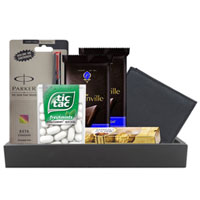 Gift Combo of Chocolates, Parker Pen  N  Leather Wallet