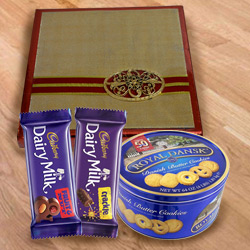 Classic Assorted Dry Fruits with Cookies  N  Chocolates Gift Pack