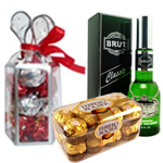 Handsome New Year Hamper with Best Wishes