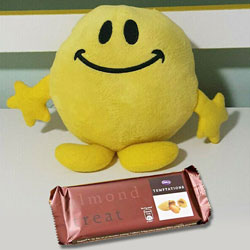 Adorable Soft Toy and Temptation Chocolate Duple