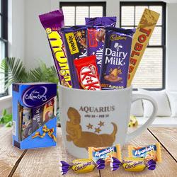 Fabulous Gift Combo of Aquarius Sun Sign and Chocolates