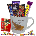 Blissful Pisces Sun Sign Mug and Chocolate Hamper