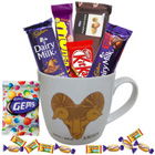 Attractive Mug with Aries Sun Sign Print and Chocolates Hamper