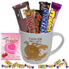 Tempting Chocolates along with an Attractive Cancer Zodiac Sign Printed Mug Gift Combo
