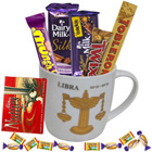 Extraordinary Libra Sun Sign Printed Mug and Chocolate Hamper