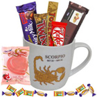 Alluring Scorpio Sun Sign Printed Mug and Chocolate Hamper