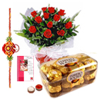 Auspicious Love of Thread with Choco Floral Wishes