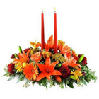 Mixed Flowers with Candles Combo