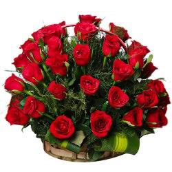 Beautiful 24 Archangelic Red Roses Arrangement