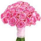 Delightful 30 Bright Pink Roses Bouquet