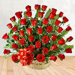 Expressive 50 Red Roses Special Arrangement Bouquet