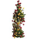 Glorious 100 Colorful Roses with Tall Arrangement