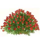 Captivating Arrangement of 150 Dutch Red Roses