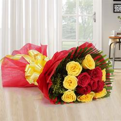 Heavenly Precious Love Bouquet of 12 Mixed Roses