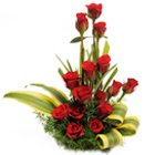 Impressive 15 Red Roses in a Basket for Sweet Surprise