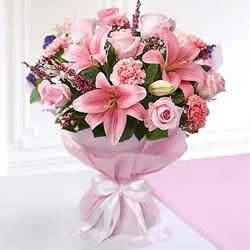 Lovely Tempting Moments Mixed Seasonal Flower Bouquet