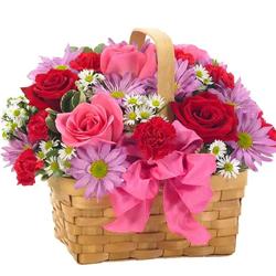Artistic Flowers Basket