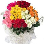 Delicate Mixed Roses Bunch