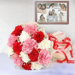 Fashionable Mixed Carnations Bouquet
