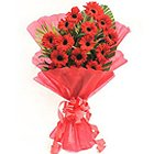 Seasonal Bouquet of Red Gerberas