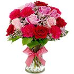 Alluring Seasonal Flowers in a Glass Vase