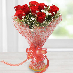Precious Red Roses Bouquet
