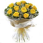 Regal Glad Tidings Yellow Roses Bouquet