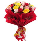 Stunning Assorted Roses Bunch
