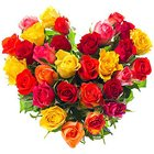 Graceful Hearty Assemble of 30 Mixed Roses