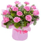 Mesmerizing Pink Roses Bouquet