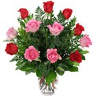 Attention-Getting Roses in a Glass Vase