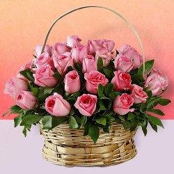 Fresh Arrangement of Pink Roses