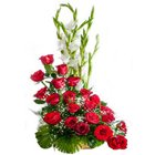 Silky-Smooth 15 Red Roses Premium Arrangement