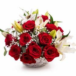 Gorgeous Basket of Fresh Flowers